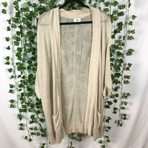 2 for $18 🎉 Loose-Knit Half Sleeve Cardigan